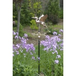 Blue Heron Cottage Weathervane - Polished Copper w/Roof Mount by Good Directions