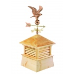 "26"" Square Kent Wood Cupola with Cottage Eagle by Good Directions"