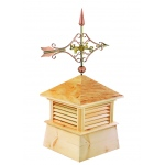"26"" Square Kent Wood Cupola with Cottage Victorian Arrow by Good Directions"