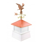 "30"" Square Manchester Vinyl Cupola with Standard American Eagle by Good Directions"