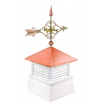 "30"" Square Manchester Vinyl Cupola with Standard Victorian Arrow by Good Directions"