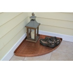 Barcelona Multi-Purpose Shoe Tray for Boots, Shoes, Plants, Pet Bowls, and More, Copper Finish  by Good Directions