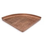 Athens Multi-Purpose Shoe Tray for Boots, Shoes, Plants, Pet Bowls, and More, Copper Finish by Good Directions