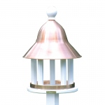 Bell Bird Feeder with Polished Copper Roof by Lazy Hill Farm Designs