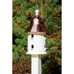 Bell Bird House with Polished Copper Roof by Lazy Hill Farm Designs
