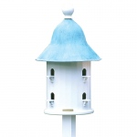 Bell Bird House with Blue Verde Copper Roof by Lazy Hill Farm Designs