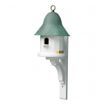 Copper Top Bird House with Blue Verde Copper Roof by Lazy Hill Farm Designs