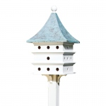 Ultimate Martin Bird House with Blue Verde Copper Roof by Lazy Hill Farm Designs