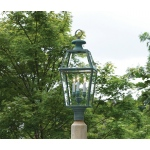 Old Colony Lantern - Verde Brass by Lazy Hill Farm Designs