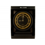 Black & Gold Clock With Beveled Base