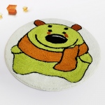 Blancho  Kids Room Rugs  - Green Bear