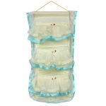 Blancho  Blue Lace/Wall Hanging/Wall Organizers/Baskets - Flower Bud Silk