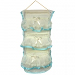 Blancho  Blue Lace/Wall Hanging/Wall Organizers  - Bowknot Bud Silk