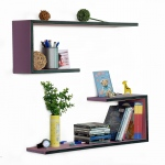 Blancho  Crutch-Shaped Leather Wall Shelf / Bookshelf  - Goddess Venus