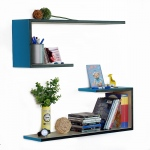 Blancho  Crutch-Shaped Leather Wall Shelf / Bookshelf  - Deja Vu