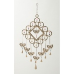 Benzara Adorable Metal Butterfly Windchime