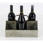 Benzara Abe Metal Wine Holder