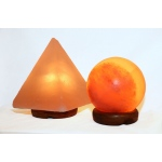 "Manhattan Comfort Accentuations By Manhattan Comfort 5"" Sphere Shaped Himalayan Salt Lamp 1.5 And 9"" Pyramid Lamp With Dimmer"