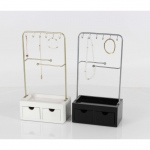 Benzara Captivating Accessory Stand With Drawer And Hooks,assorted In 2