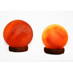 "Manhattan Comfort Accentuations By Manhattan Comfort 5"" And 7"" Sphere Shaped Himalayan Salt Lamp 1.5 And 1.7 With Dimmer. Set Of 2."