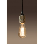 Warehouse of Tiffanys Lisa 1-light Gold Adjustable Cord Edison Lamp With Bulb