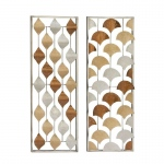 Benzara Admirable Metal Wall Panel 2 Assorted 23465