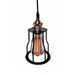 Warehouse of Tiffanys Lara 1-light Adjustable Height 6-inch Black Pendant Lamp With Bulb