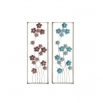 Benzara Admirable Metal Wall Panel 2 Assorted