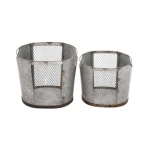 Benzara Amazing Styled Attractive Metal Wire Basket
