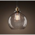 Warehouse of Tiffanys Latoya 1-light Clear Glass 8-inch Edison Pendant With Bulb