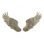 Benzara Adorable Metal Wing Wall Decor Set Of 2