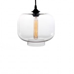 Warehouse of Tiffanys Larentia 1-light Glass 15-inch Edison Pendant Lamp With Bulb