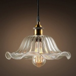 Warehouse of Tiffanys Lauralyn 1-light Clear Glass 12-inch Edison Pendant With Bulb