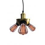 Warehouse of Tiffanys Liberty 3-light Black Adjustable Height Edison Pendant Lamp With Bulbs