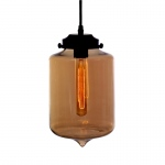 Warehouse of Tiffanys Latasha 1-light Brown 30-inch Edison Pendant Lamp With Bulb