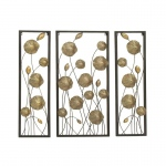 Benzara Adorable Metal Gold Wall Decor Set Of 3