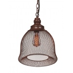 Warehouse of Tiffanys Leah 1-light Rusty Steel Edison Pendant With Bulb