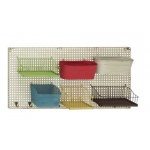 Benzara Bright And Colorful Metal Wall Rack