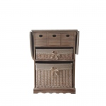 The Urban Port Antiqued Wood Cabinet With Ironing Board By Urban Port
