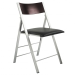 Corner Housewares Space Saving Modern Folding Chair With Cushion (set Of 2)