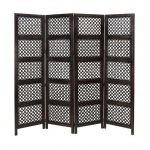 Benzara A Stylish Wood 4 Panel Screen