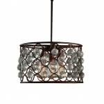 Warehouse of Tiffanys Lalla 3-light Rusty Steel 16-inch Edison Chandelier