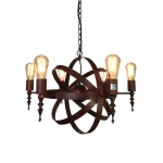 Warehouse of Tiffanys Louisa 6-light Rusty Steel 24-inch Edison Chandelier With Bulbs