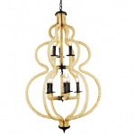 Warehouse of Tiffanys Leocadie 8-light Hemp Rope 28-inch Chandelier With Bulbs