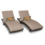 TK Classics Bali Chaise Set Of 2 Outdoor Wicker Patio Furniture