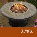 TK Classics Balmoral - 48 Inch Round Porcelain Top Gas Fire Pit Table