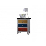 ACME Furniture Acme Brooklet Nightstand, White & Multi-color