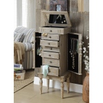ACME Furniture Acme Taline Jewelry Armoire, Weathered Oak