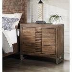 ACME Furniture Acme Andria Nightstand (3 Drawer), Reclaimed Oak