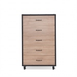 ACME Furniture Acme Bemis Chest In Weathered Light Oak